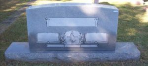 Triple Frosted Panel Upright Headstone