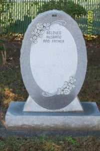 Oval Shaped Upright Memorial Design