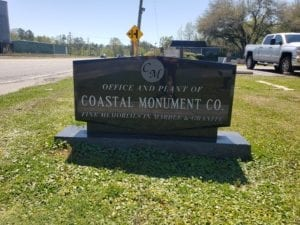 Coastal Monument Front Sign